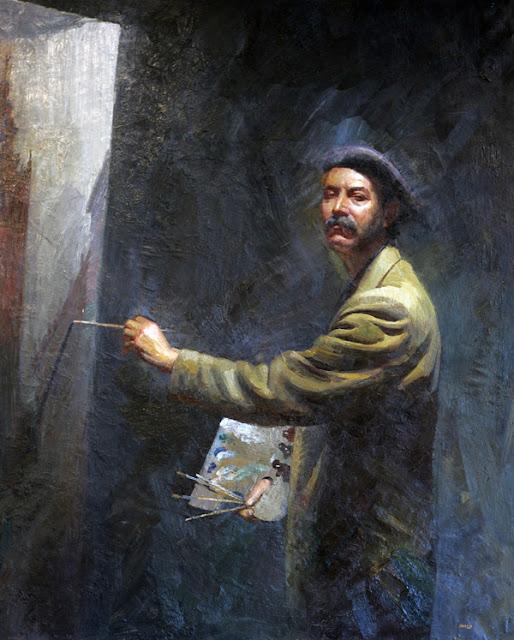 Amalio García del Moral, Maestros españoles del retrato, Retratos de Martín Alsina, Pintores Andaluces, Pintor español, Pintor Amalio García del Moral, Pintores de Granada, Pintores españoles