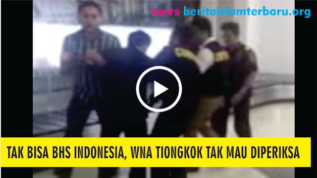 Heboh Video WNA Tiongkok Tak Bisa Bahasa Indonesia Menolak Diperiksa Imigrasi