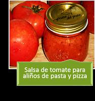 SALSA DE TOMATE PARA ALIÑOS DE PASTA Y PIZZA