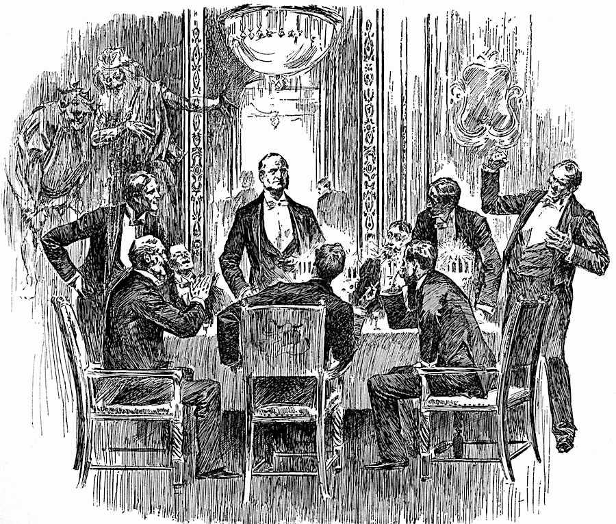 1891 men's club, an illustration of wealthy white male heterosexuals