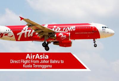 Air Asia new route: Kuala Terengganu - Johor Bahru