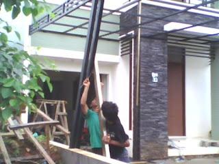 Canopi minimalis atap polycarbonate