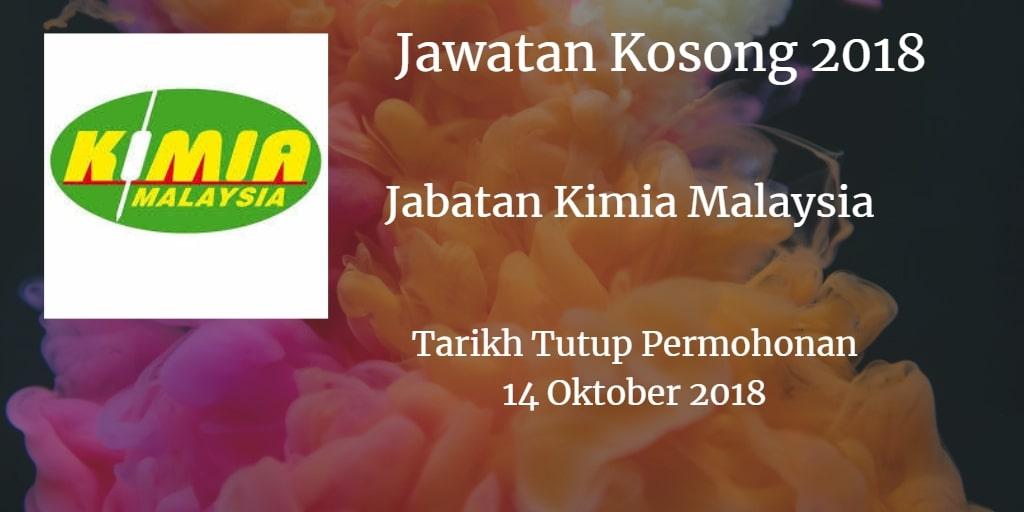 Jawatan Kosong Jabatan Kimia Malaysia 14 Oktober 2018