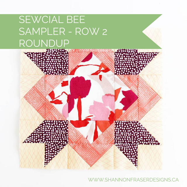 Sewcial Bee Sampler Row 2 | Shannon Fraser Designs | Modern Quilting Sew Along | Modern Quilt Blocks