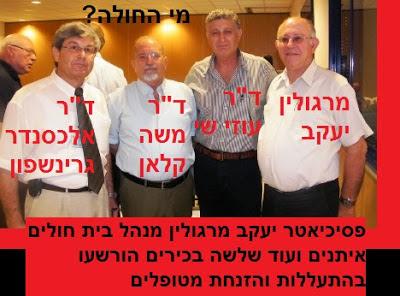פסיכיאטר יעקב מרגולין מנהל בית חולים איתנים ועוד שלשה בכירים הורשעו בהתעללות והזנחת מטופלים