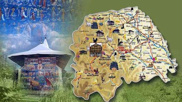 harta turistica a judetului Suceava