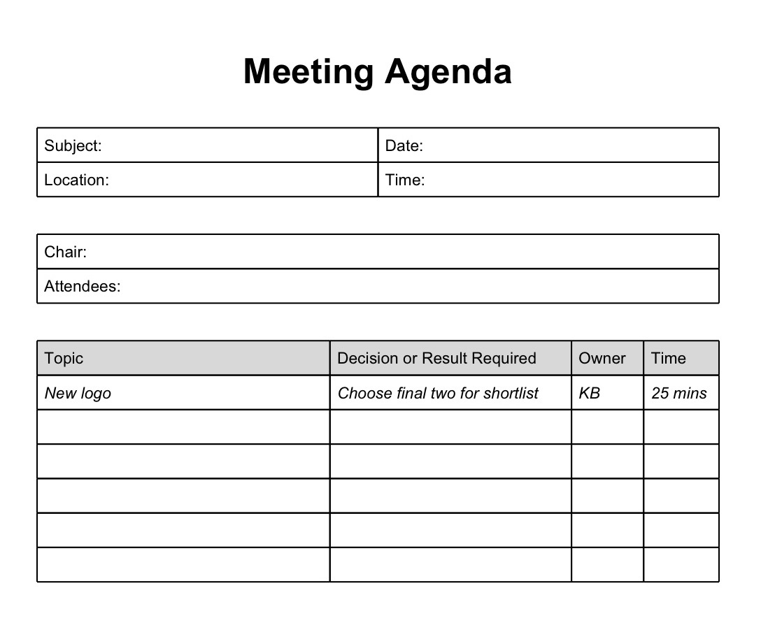 Basic Agenda Template basic meeting agenda template staff meeting – Basic Meeting Agenda Template