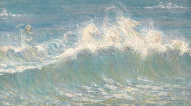 Walter Crane a study of Neptune's white horses