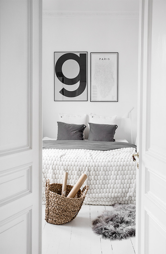 Scandinavian bedroom by Kristin Sundberg