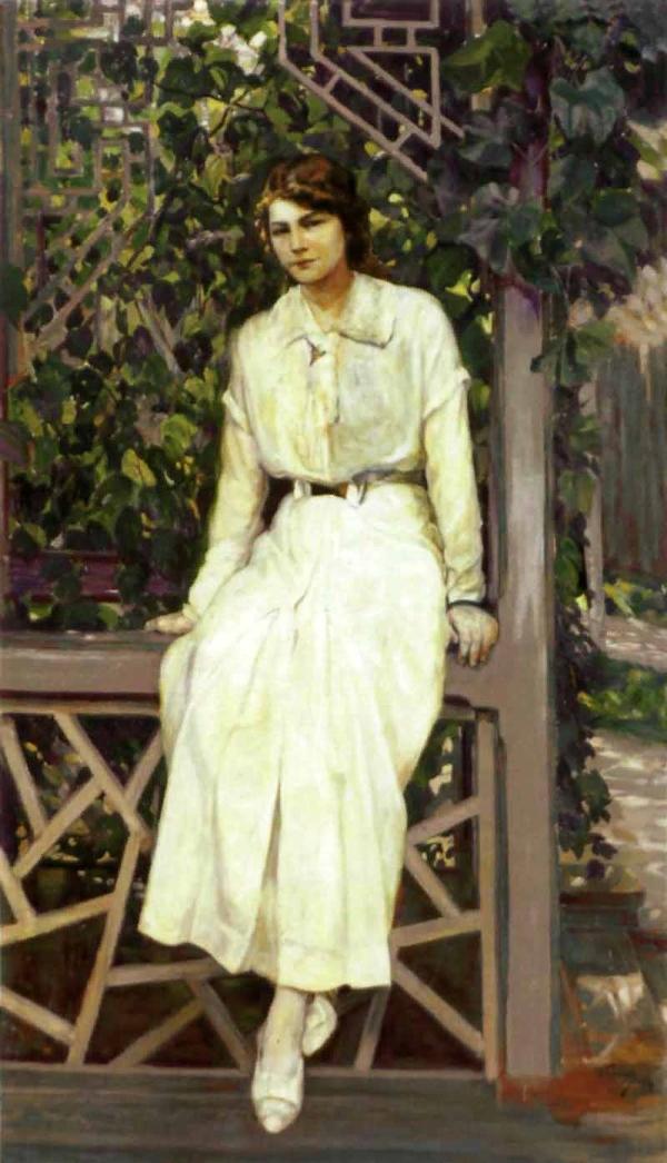 Кузнецов Николай Дмитриевич Портрет девушки в белом