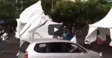 VIDEO: Angin Ribut Iringi Aksi 412 Dan Hempaskan Tenda Metro TV