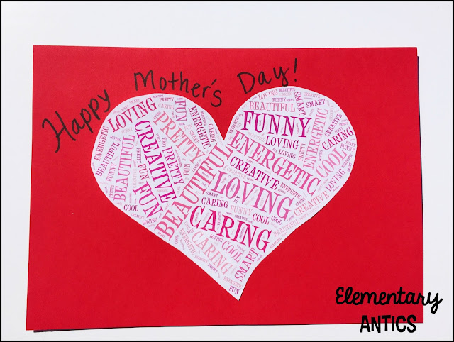 Help your students make a Mother's Day wordle card using Tagxedo! These make super cute and easy Mother's Day presents. Review character traits and have students use 10 words to describe their moms to make their heart word clouds