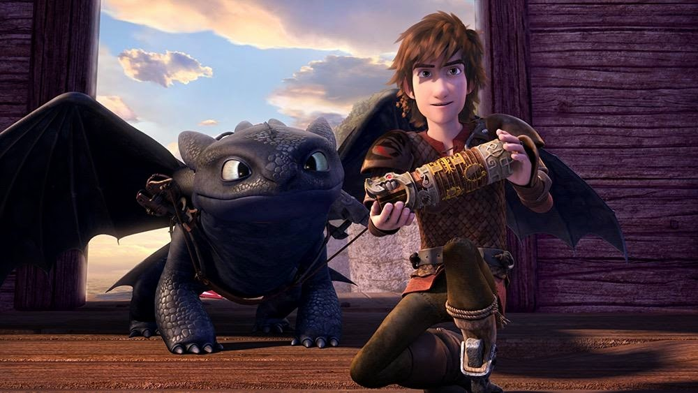 Image of Toothless & Hiccup from Dragons: Race to the Edge