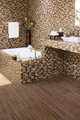 Mixing & matching patterned tiles creates a distinctive look