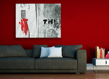 urban art, abstract digital painting, urban abstract, black and white, grey, red, contemporary art, landscape, modern art, Sam Freek,