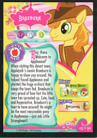 My Little Pony Braeburn Series 1 Trading Card
