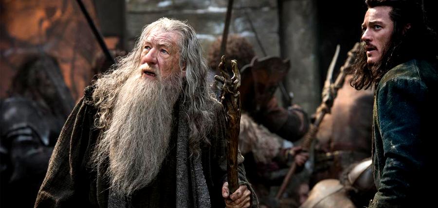Gandalf şi Bard în Hobbitul: Bătălia Celor Cinci Armate