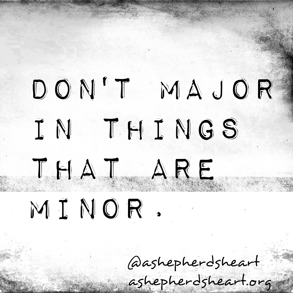 Image result for Stop Majoring In The Minor