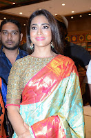 Shriya Saran Looks Stunning in Silk Saree at VRK Silk Showroom Launch Secundrabad ~  Exclusive 163.JPG