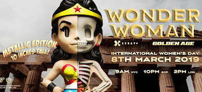 "Golden Age Wonder Woman Metallic Edition XXRAY+ 10"" Vinyl Figure by Jason Freeny x Mighty Jaxx"