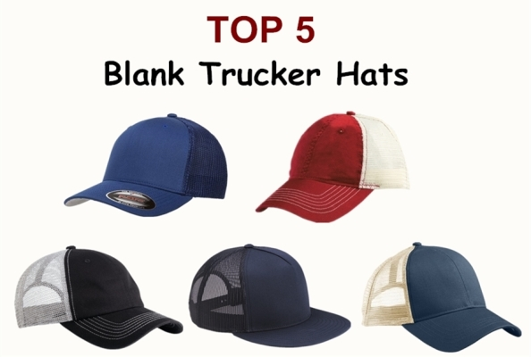 bf22793bfc9a6 Blank trucker hats are very popular as a result of their functionality and  appealing vintage trucker hat look. At NYFifth