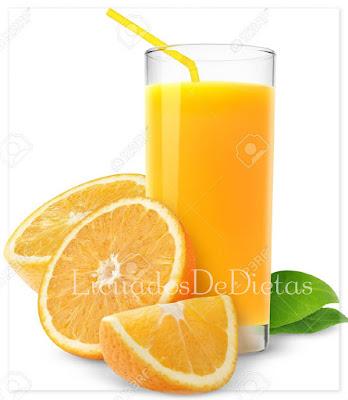 zumo de naranja y nopal para perder peso naturalmente