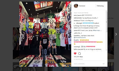 Lionel Messi Pamer Semua Koleksi Jersey Miliknya