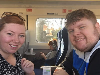 A family day trip to London with Virgin Trains East Coast - train selfie
