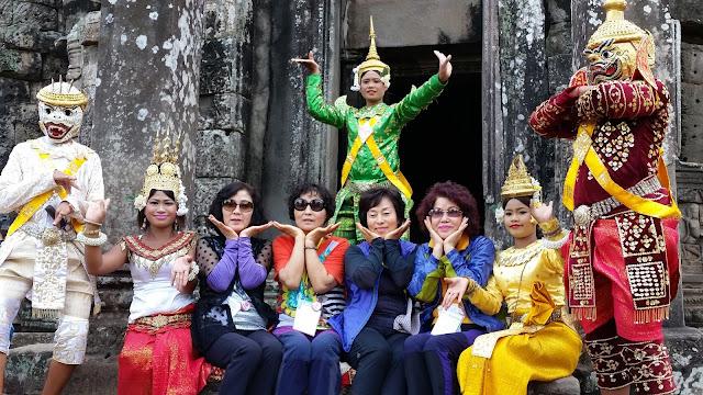 Freundlicher Empfang in Kambodscha