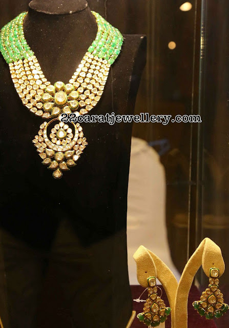 Kundan Emerald Jaipur Necklace