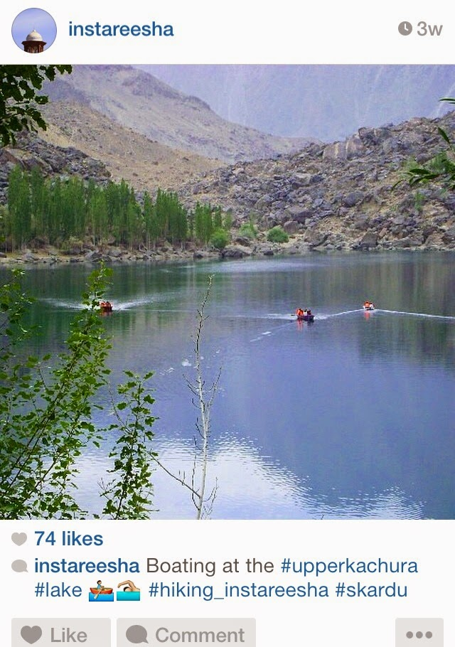 Instareesha-  Pakistan Instagram Accounts - Upper Kachura Lake