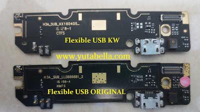 Perbedaan flexible charger Xiaomi Redmi note 3 pro ori vs kw
