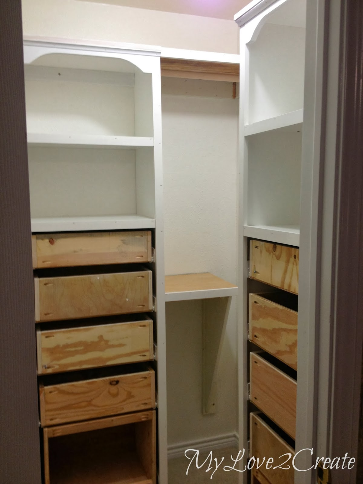 Master Closet Makeover Trim Shelves And Rods My Love 2