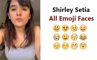 Shirley Setia All Emoji Faces,Shirley के Fans,Cuteness,Shirley Setia,Tik Tok Star Shirley Setia