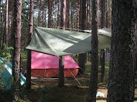 Лагерь поисковиков ледового побоища Александра Невского