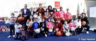 La Fundación Real Madrid presentó  'En Navidad, ningún niño sin regalo'