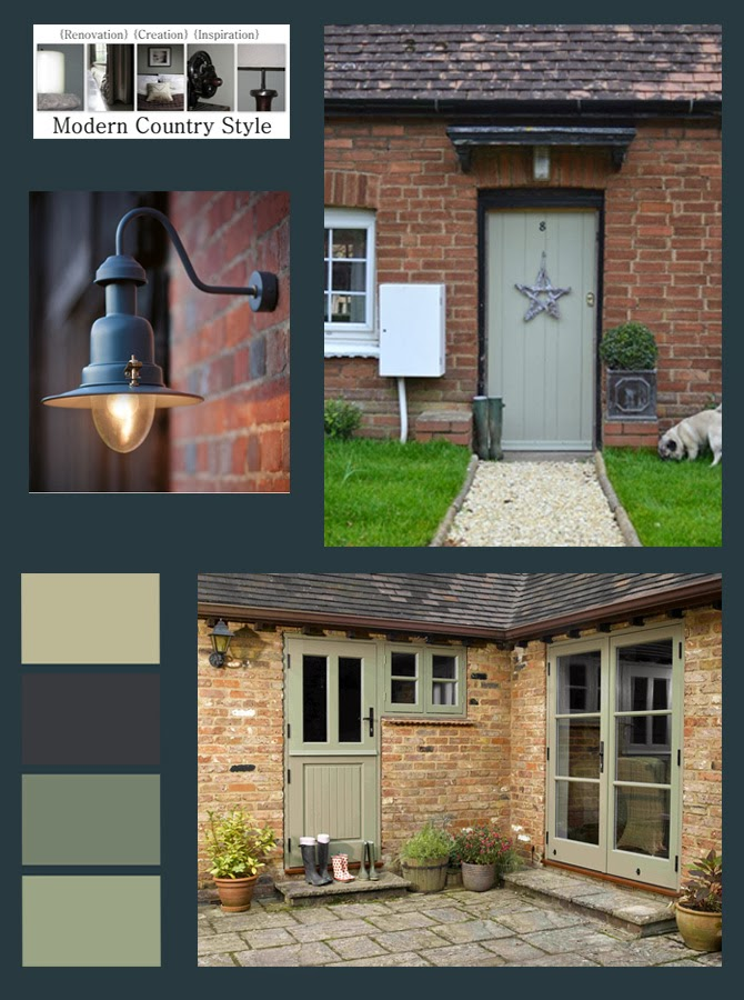 Door Is Painted In Farrow And Ball French Gray Green Works Well As An Front Paint Colour A Suggested Scheme
