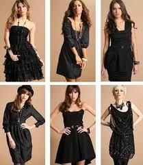 Complementos para vestido negro de coctel