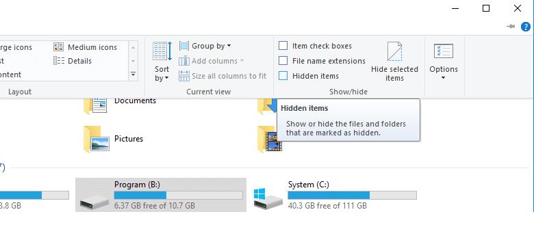 Cek file hilang flashdisk