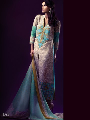 7870fb3907 Silk Winter Collection Dresses By Sana Safinaz 2012-13 | Pakistani ...
