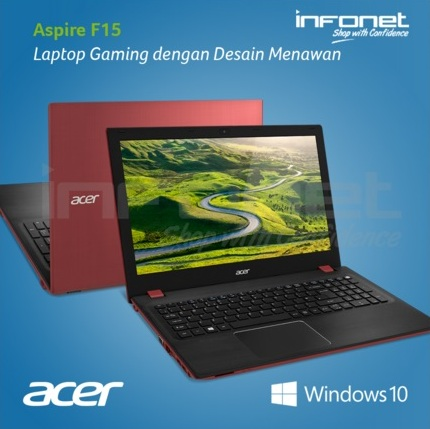 Harga Laptop Acer Aspire F15 F5-572G Tahun 2017 Didukung Dengan Spesifikasi Processor Core i7 6500U