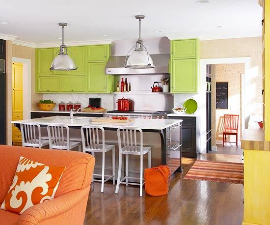 Green Kitchen Design New Ideas 2012