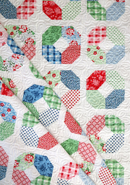 Layer Cake Lucy quilt pattern by Andy of A Bright Corner - a layer cake friendly pattern that looks good in any fabric!