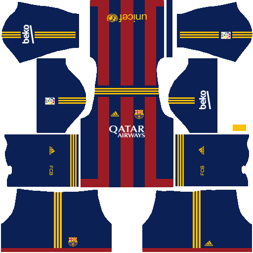Uniformes para FTS 15 y Dream League Soccer: Kits/Uniformes Barcelona ...