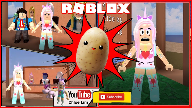 Roblox Potato Panic Gameplay! LOTS OF OOF! POTATOES AND PALM TREES!