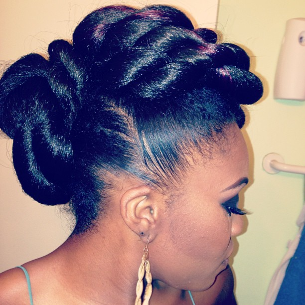 Pictures Of Natural Black Hair Updo Buns Pictures Of Nnature