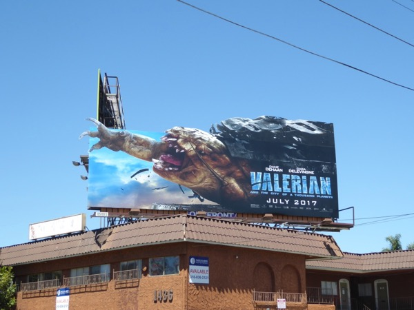 Valerian Thousand Planets movie billboard