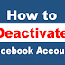 How to Activate and Deactivate Facebook Account