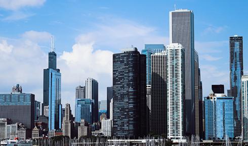 Downtown Chicago Lake Michigan
