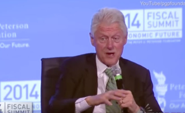 Video Screen Capture: Bill Clinton Describing Hillary's Very Serious Injury in 2014